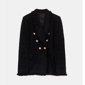 d255ea0b Zara Jackets & Coats - NWT ➡ ZARA BLOGGER FAV TWEED BLAZER BALMAIN DUPE